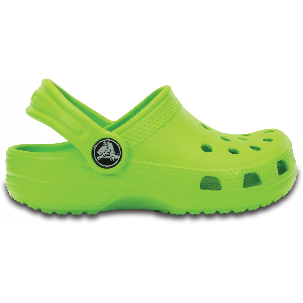 Comfort and fun connect in the Crocs Kids' Classic. This clog has a durable, lightweight footbed that molds to kids' feet and ventilation for breathability.
